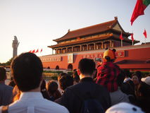 Crowd at Forbidden City Stock Photo