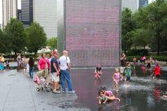 Crowd Fountain, Chicago Stock Photos