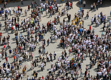 Crowd From Above Royalty Free Stock Photography