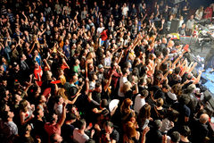 Crowd at the Fuel Fandango (electronic, funk, fusion and flamenco band) concert at Apolo (venue) Royalty Free Stock Photo