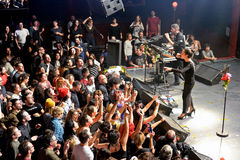 Crowd at Fuel Fandango (electronic, funk, fusion and flamenco band) live show at Apolo (venue) Royalty Free Stock Image