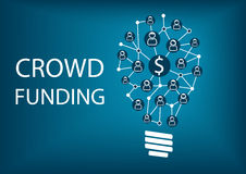 Crowd funding concept. Stock Images