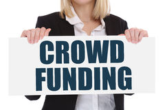 Crowd funding crowdfunding collecting money online investment in royalty free stock photography