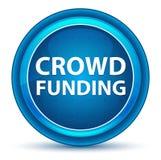 Crowd Funding Eyeball Blue Round Button vector illustration