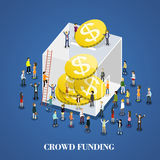 Crowd funding Royalty Free Stock Photography