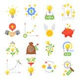 Crowd funding icon set royalty free illustration