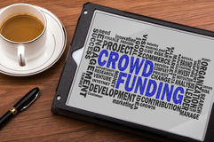 Crowd funding word cloud Stock Images