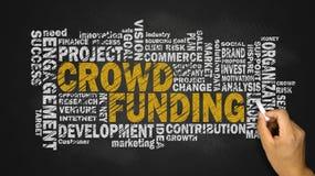 Crowd funding word cloud Stock Photos