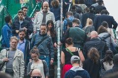 Crowd at Fuorisalone during Milan Design Week 2015 Royalty Free Stock Photos