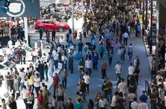 Crowd gathering around the 12th China International Automobile Exhibition of Guangzhou Stock Photo