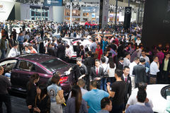 Crowd gathering around the 12th China International Automobile Exhibition of Guangzhou Stock Image