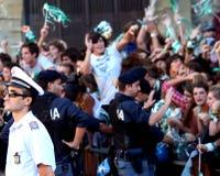 Crowd going insane Arezzo Stock Photo