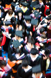 Crowd of graduates. A crowd of graduates during commencement Royalty Free Stock Image