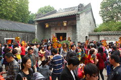 Crowd at GuandiTemple Royalty Free Stock Image