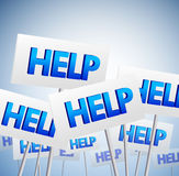 Crowd of help signs Royalty Free Stock Photography