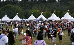 Crowds at Heritage Day, Edmonton, Alberta, Canada Royalty Free Stock Images
