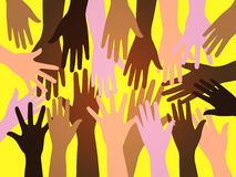 Crowd human hands Royalty Free Stock Images