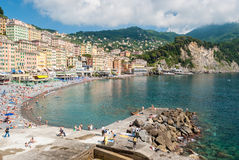 Free Crowd In The Beach Of Camogli During A Sunny Afternoon Royalty Free Stock Photo - 72538575