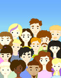 Crowd international different people characters royalty free illustration