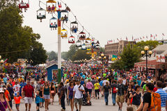 Crowd at Iowa State Fair Stock Photos