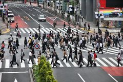 Crowd in Japan Stock Photo
