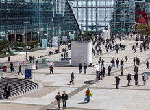 Crowd in La Defense Royalty Free Stock Photo