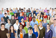 Crowd Large Group of People Multiethnic Diversity Concept stock image