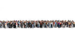Crowd. Royalty Free Stock Image