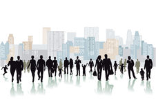 Crowd on a large square Stock Photography