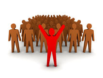 Crowd leadership. Royalty Free Stock Images