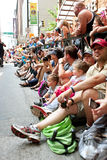 Crowd Lines Street In Atlanta To Watch Dragon Con Parade Stock Image