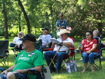 Crowd listens to speakers at Tea Party Rally Royalty Free Stock Photos