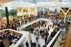 Crowd in the mall royalty free stock photography