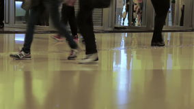 Crowd at the Mall. Fast Motion stock video footage