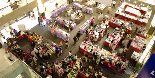 Crowd in the mall, sale shopping. Sale hall in the shopping mall. crowd of people buying stuffs Royalty Free Stock Images