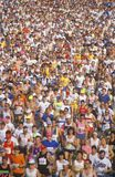 Crowd of Marathon runners Royalty Free Stock Images