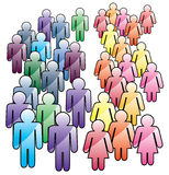 Crowd of men and women. Vector abstract crowd of men and women Stock Photo