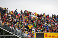 The crowd at Montreal Grand prix royalty free stock photos