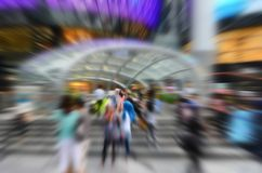 Crowd Motion Burst Royalty Free Stock Photo