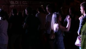 Crowd At A Music Concert stock video footage