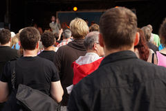 Crowd at a music festival royalty free stock images