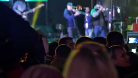 Crowd on Music Festival stock footage