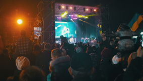 Crowd on Music Festival stock video