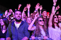 Free Crowd Of Partying People During A Concert Stock Photos - 41891853