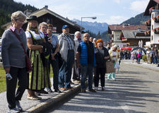 Crowd Oktoberfest in Gerlos Austria Stock Images