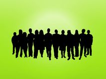 Crowd On Green Royalty Free Stock Image