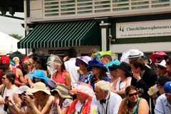 Crowd of onlookers at Churchill Downs Royalty Free Stock Images