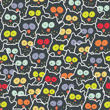 Crowd of owls. Stock Photo
