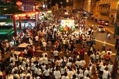 Crowd parading at Wesak Procession at Kuala Lumpur Royalty Free Stock Images