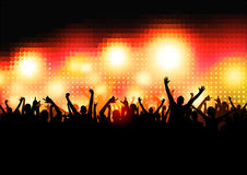 Crowd of Party People Royalty Free Stock Images